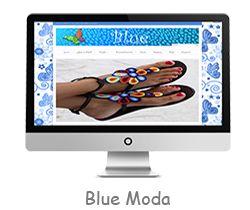 Blue, página web creada para la tienda de moda Blue en Zalla, Bizkaia.