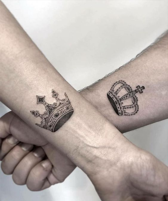 crown tattoo men