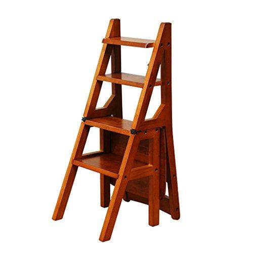 Wood Folding Staircase Chair Creative Ladder Chair Home Multi Function Ladder Stool Wooden Ladder Climbing Ladder Stool Household Chair Step Stool