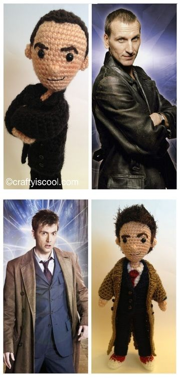 crochet doctors, 1 through 11. So well done.