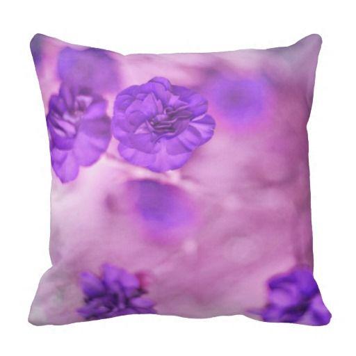 Small Purple Flowers American Mojo Pillow
