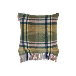 Cuscino Irlanda, 100% lana vergine  verde  40x50 cm