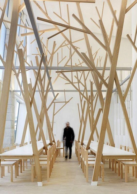 interior design tree - Organic living, Wabi sabi and estaurant design on Pinterest