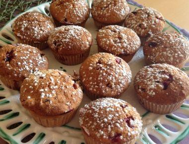 Ribisel-Haselnuss-Muffins