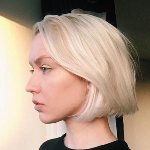 Real Human Hair Short Bob Wigs Natural Black To Lightest Blonde Body Wave Style 1b 613 Blonde Bob Hairstyles Platinum Blonde Hair Short Blonde Hair