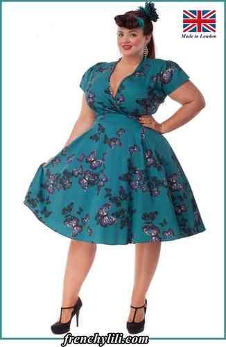 robe vintage estella butterfly de vintage robe grande taille robe retro swing fifties