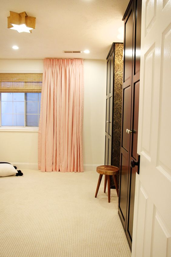 A Ceiling Mount Curtain Rod   Ceiling curtains, Wardrobes and Ash