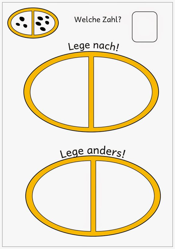 Lernstübchen: Legeplatten zur Zahldarstellung bis 10