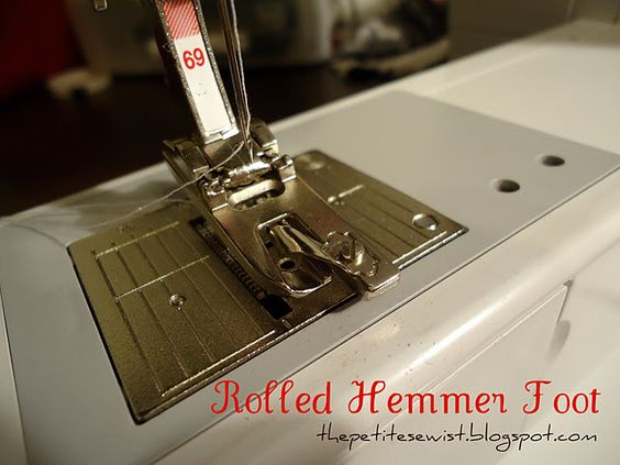 Tutorial: Make a rolled hem on your sewing machine... http://thepetitesewist.blogspot.com/