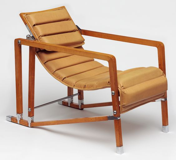 Armchair, designed and made by Eileen Gray, before 1929. Museum no. Circ.578-1971 - Victoria and Albert Museum, London, United Kingdom.