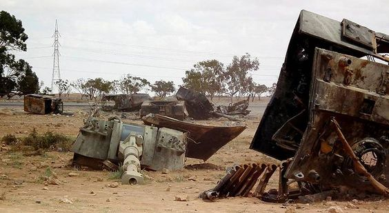tanks of the Libyan army after the revolution