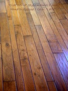 Olde world style walnut plank different width size for Different width hardwood flooring