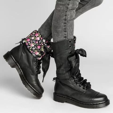 Womens Vintage Chunky Heel Boots Lace Up Leather Daily Mid Calf Boots Botas De Combate Calzas Zapatos