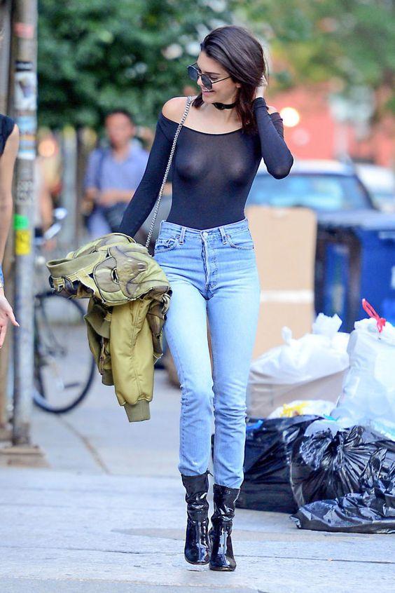Kendall Jenner Puts Her Nipple Piercing on Sheer Display:
