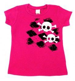 Argyle Skull Hot Pink & Black T-shirt