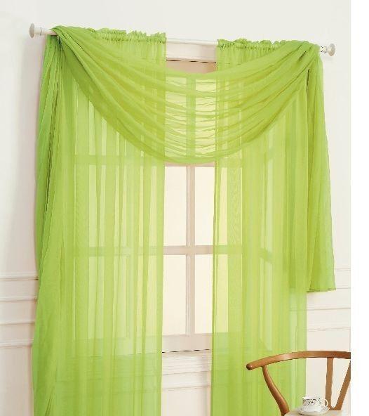 SHEER / SCARF Window Treatments Curtains Drape Valances 63
