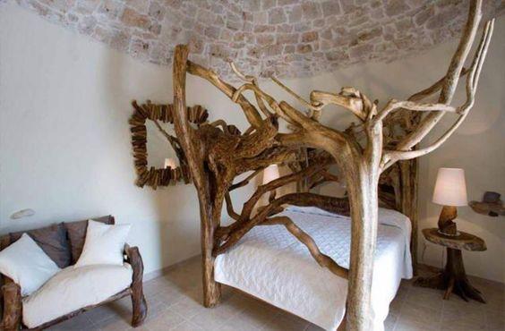 Particolari camere da letto dell'antica Masseria