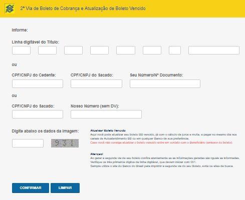 Atualizar Boleto Do Banco Do Brasil Vencido Atrasado Linha