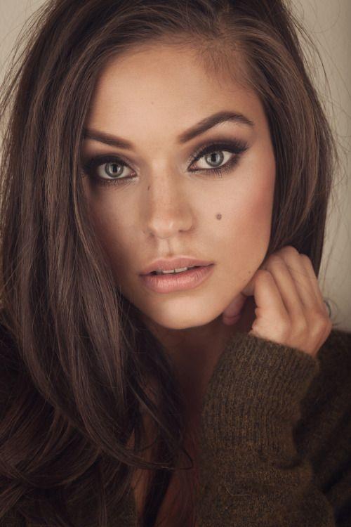 Hair Color  Hair Styles  Pinterest  Maquillage Regards Cheveux Bruns Et C