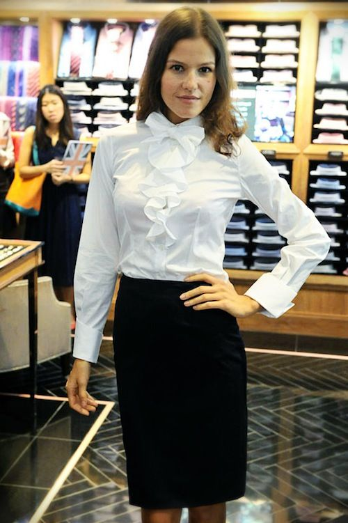 thomas-pink-hk-White-shirt-with-pencil-skirt.jpg (500×751) | Mrs ...
