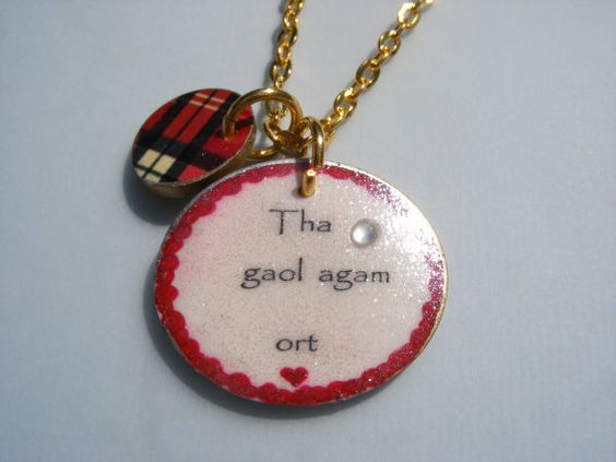 I love you in Scottish Gaelic (Ha gool akam orsht.) Need to make something out of this!