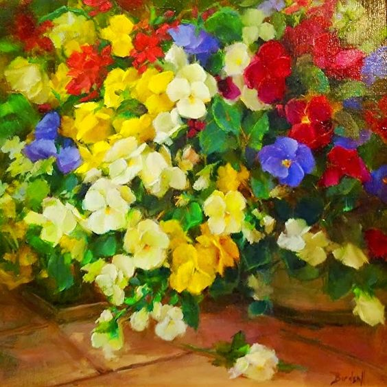 stephanie birdsall | Arreglos Florales Para Pintar al Oleo de Stephanie Birdsall