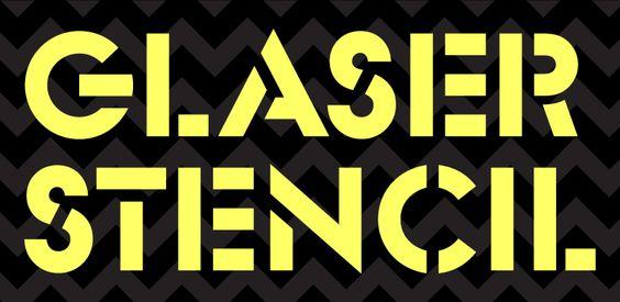 Me gusta esta tipografía de stencil limpieza y forma geométrica.