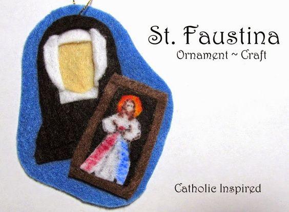 St. Faustina Kowalska Craft {Liturgical Ornament} ~ Catholic Inspired