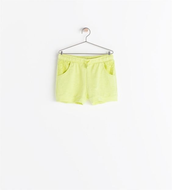 ZARA - KIDS - SHORTS WITH LACE POCKETS