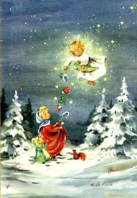 Cartoline Di Natale Vittoriane.Pin Di Carmen Pastore Su Cartoline Natale Vintage
