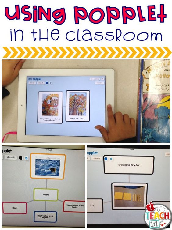 Ideas for using the free app Popplet in the classroom.