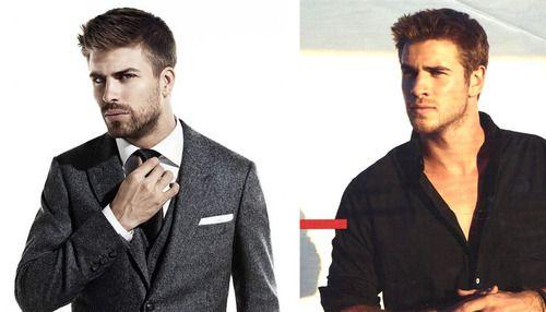 Parecidos Razonables: Gerard Piqué (FCB) - Liam Hemsworth (el hermano de Chris)