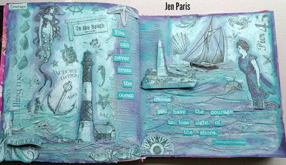 Colour Me Positive week 24 - Courage. Jen Paris, My Creative Journey.