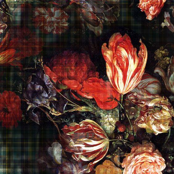 xadrez + floral = pattern