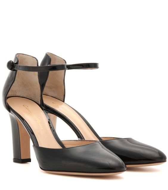 Schwarze Pumps 54 Mid aus Lackleder By Gianvito Rossi