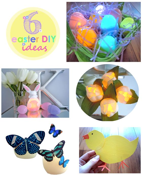 6 Great Easter DIY Ideas for you and your kids! Nothing is more impressive than self-made decor. Your guests will be impressed!