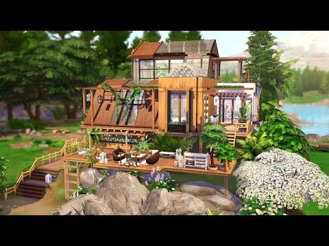 Eco House The Sims 4 Speed Build No Cc Youtube In 2020 Sims House Sims House Plans Sims Building