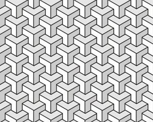 Seamless geometric black and white pattern fonts for Object pool design pattern