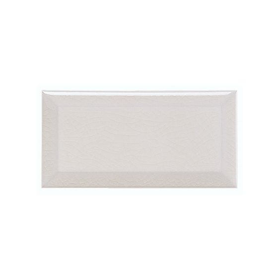 Adex Hampton White Crackled Subway Tile Bevelled 3x6 Wall
