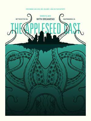 """jazrom: DKNG - Le processus de création de la pieuvre pour l'affiche de """"The Appleseed Cast"""" / Octopus illustration process for """"The Appleseed Cast"""" poster"""