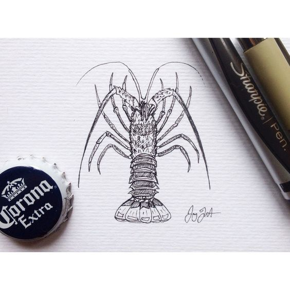 "Mini Spiny Lobster 3""x4"""