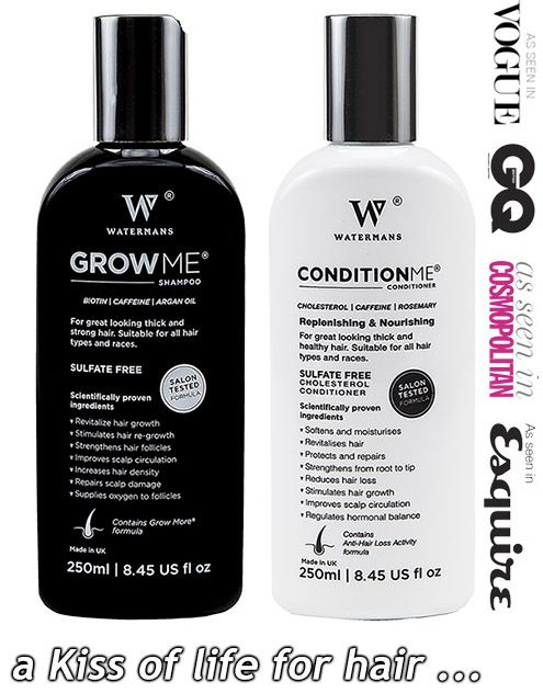 Best way to grow your hair fast.  Check out Watermans Luxury Hair Growth Shampoo and Conditioner - No1 Best Seller on Amazon UK