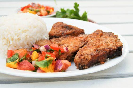 Recipe for mango pork chops