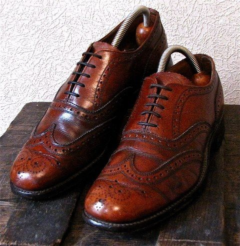 Ox blood red wing tip brogues by Cheaney from www ...