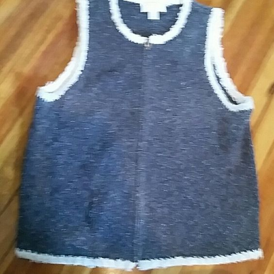Zip up sweater vest Great condition,  super cute and kinda edgy c.j. banks  Jackets & Coats Vests