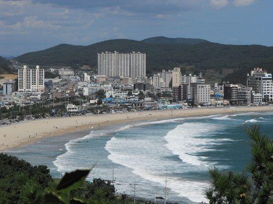 Bãi biển Songjeong tại Busan- Hàn Quốc