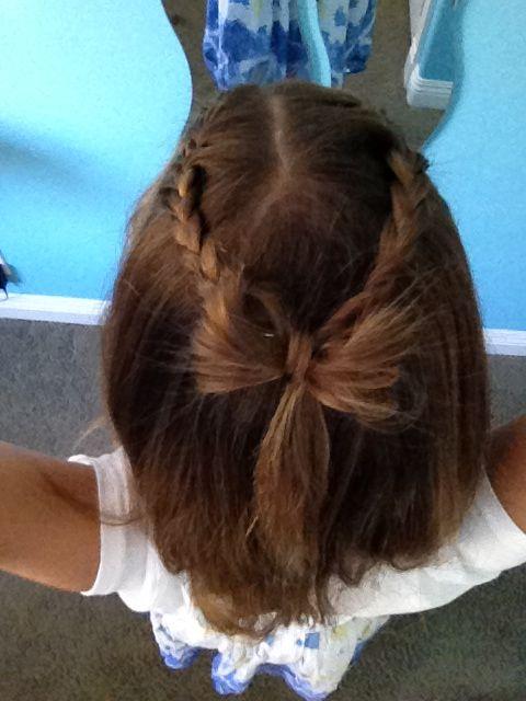French braid bow