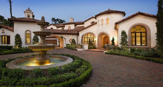 Luxury custom home builders in austin houston dallas for Luxury spanish style homes