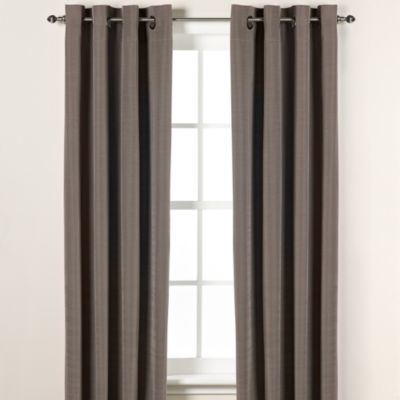 Buy DKNY Duet Grommet 108-Inch Window Curtain Panel in Platinum ...