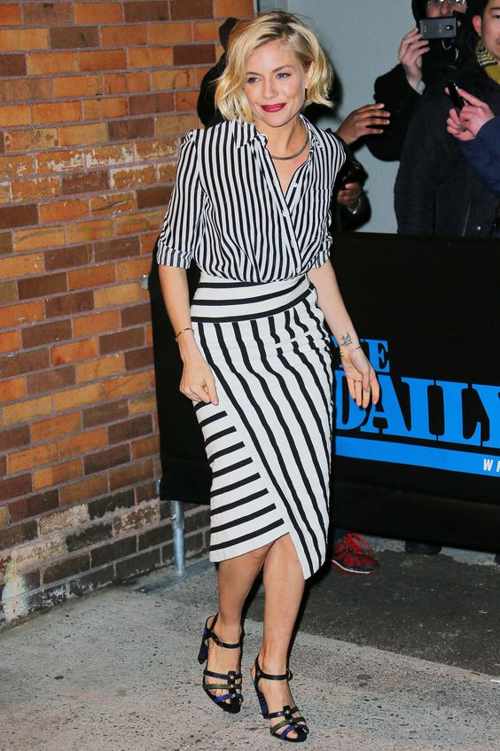 Sienna Miller / Stripes on Stripes: